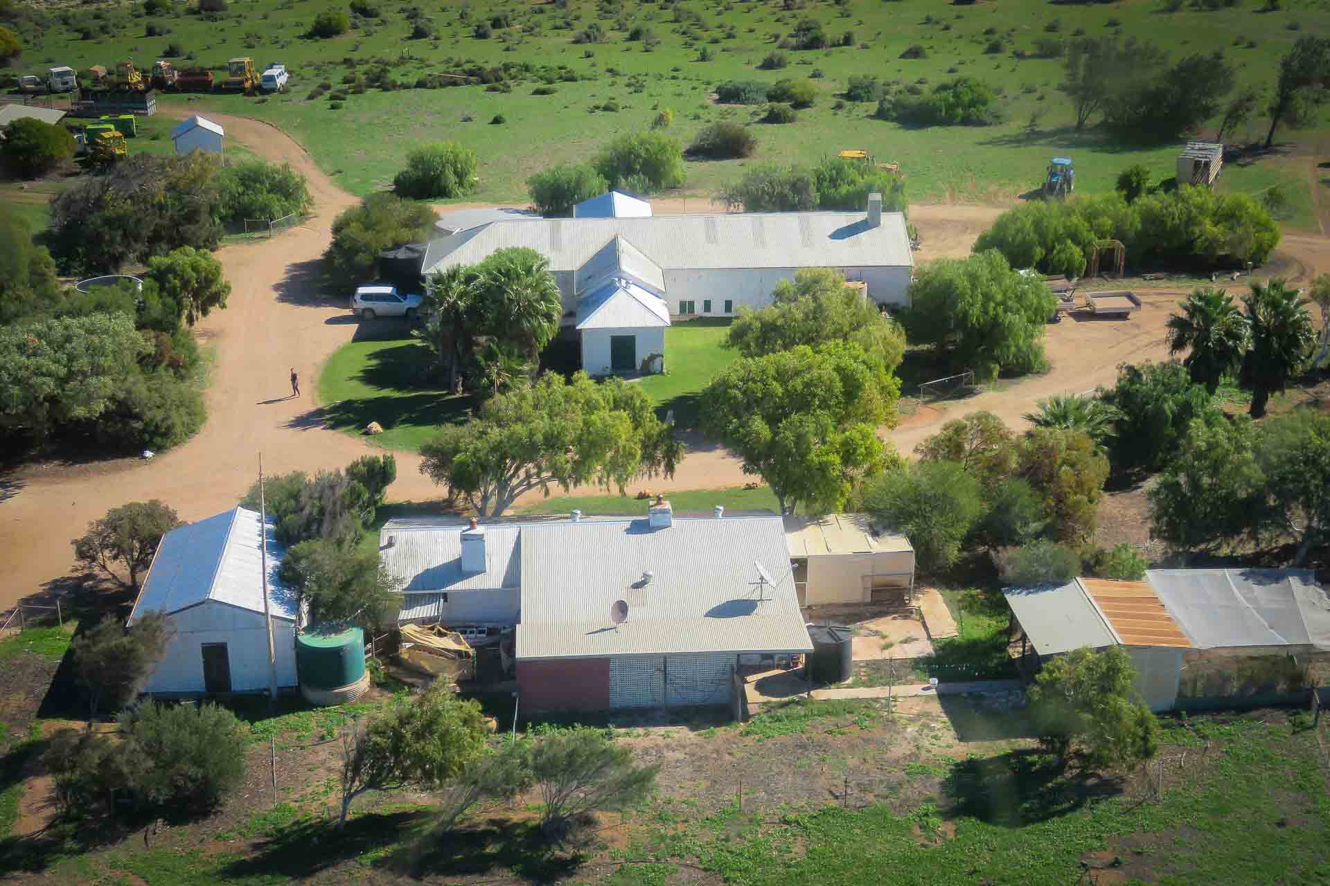 Aerial of homestead